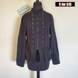 torrid zip up black blazer/coat ♣️